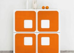 Twiggy 1960s-style four-door sideboard at Maisons Du Monde