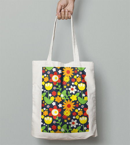 Retro tote bag range by Gail Myerscough