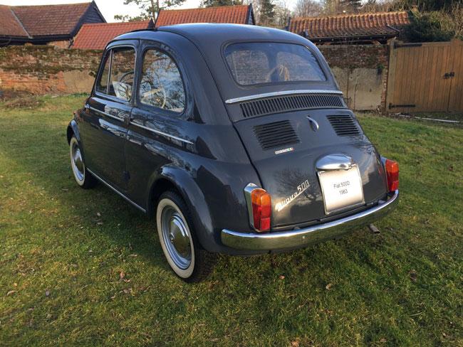 Low mileage 1963 Fiat 500D on eBay
