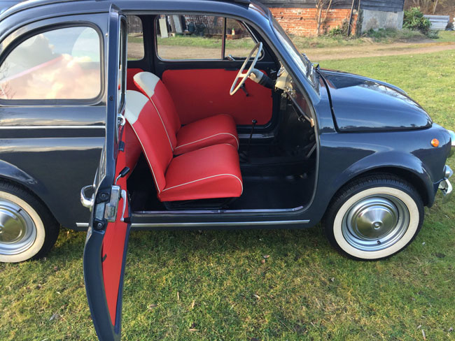Low mileage 1963 Fiat 500D on eBay