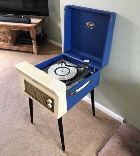 1960s Dansette Major Deluxe 21 record player on eBay
