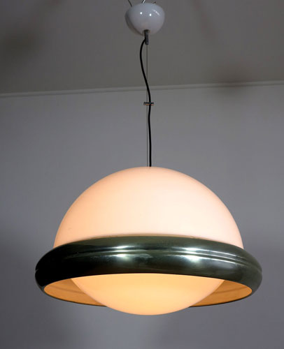 1970s flying saucer pendant light by Guzzini on eBay
