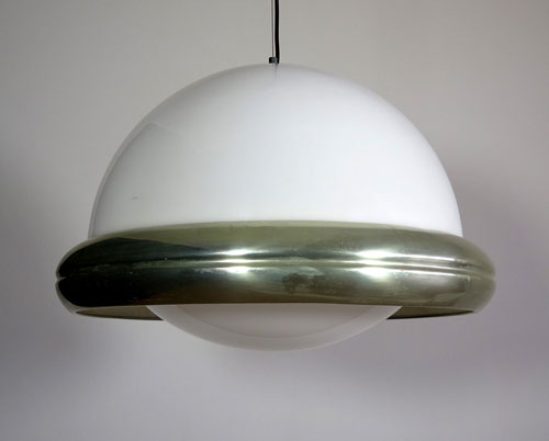1970s flying saucer pendant light by Guzzini on eBay