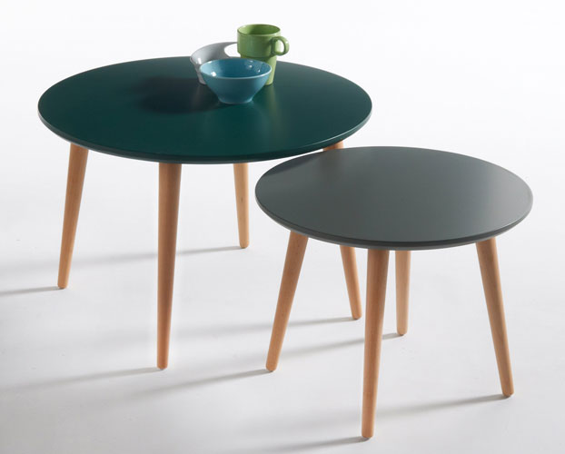 Jimi midcentury-style nesting tables at La Redoute