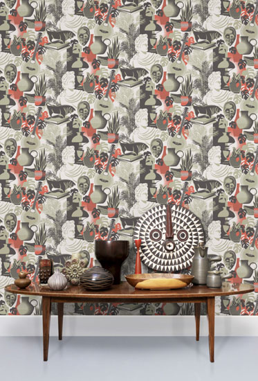 Retro-style Art Room wallpaper by Mini Moderns