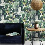 Retro-style Art Room wallpaper by Mini Moderns