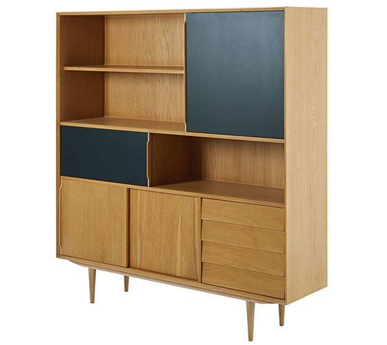 Sheffield midcentury-style bookcase at Maisons Du Monde