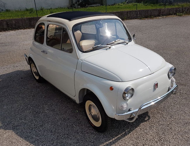 1970 Fiat 500L special edition twin tone on eBay