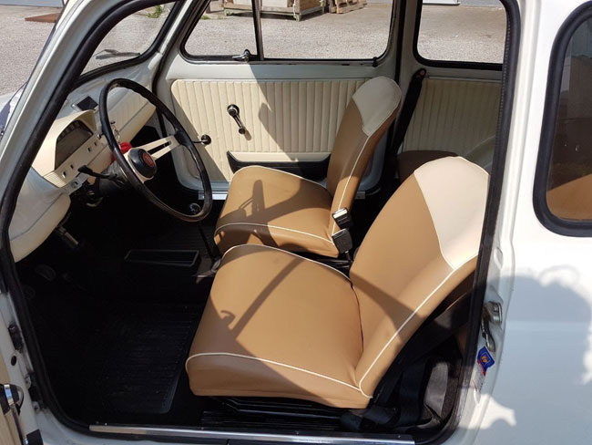 1970 Fiat 500L special edition twin tone on eBay