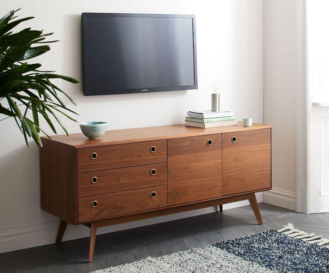 Midcentury-inspired Arlo Media Console at West Elm