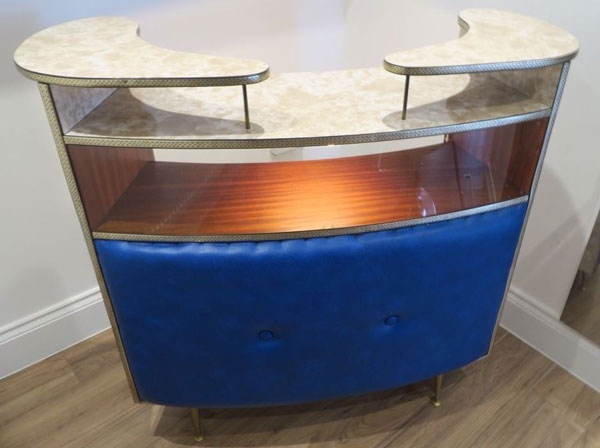 Refurbished 1950s cocktail bar on eBay