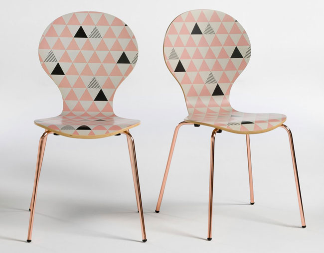Retro-style Elori Printed Chairs at La Redoute