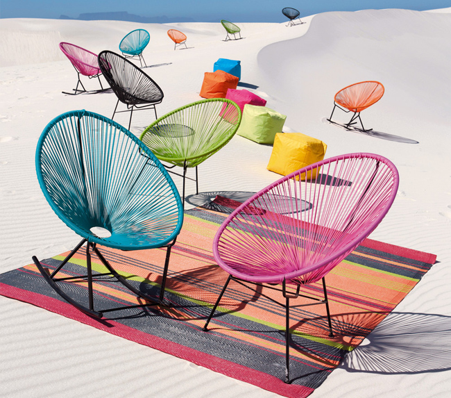 Copacabana 1950s-style outdoor seating at Maisons Du Monde