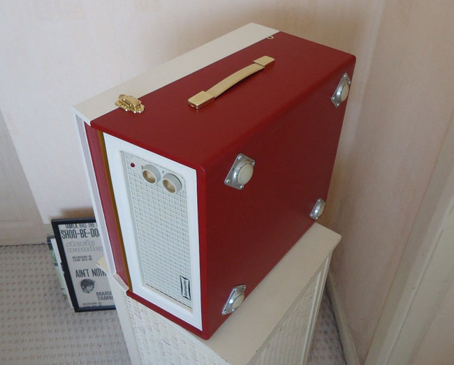 Original and restored 1960s Dansette Bermuda record player on eBay