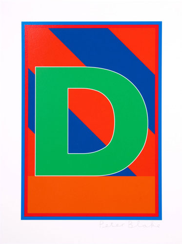 Retro letters: The Dazzle Alphabet by Sir Peter Blake