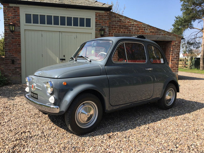 1967 Fiat 500 with low mileage on eBay