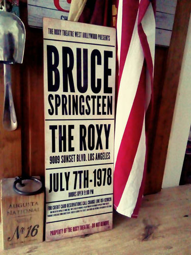 Personalised vintage-style gig signs by Daughters Of The Revolution