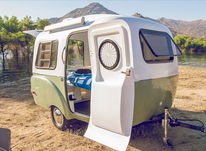 Retro holidays: VW-inspired Happier Camper miniature caravan