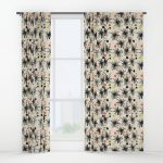 Midcentury-style curtains by Jenn Ski at Society 6