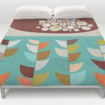 Midcentury-style duvet covers by Jenn Ski at Society6
