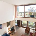 Retro house for sale: Split level apartment in Mountjoy House on the Barbican Estate, London EC2