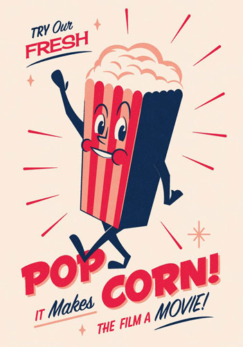 Midcentury-inspired Snack Pack prints by Telegramme