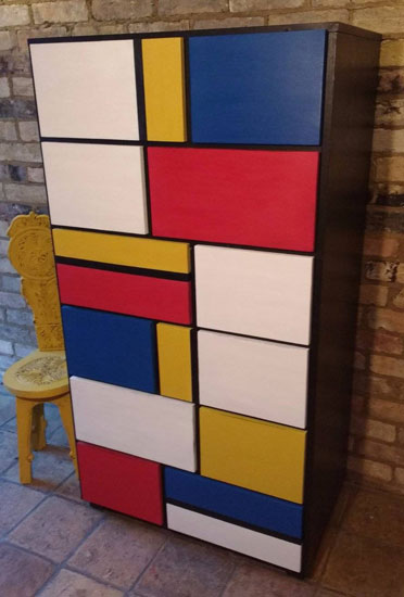 Large Mondrian-style chest of drawers on eBay