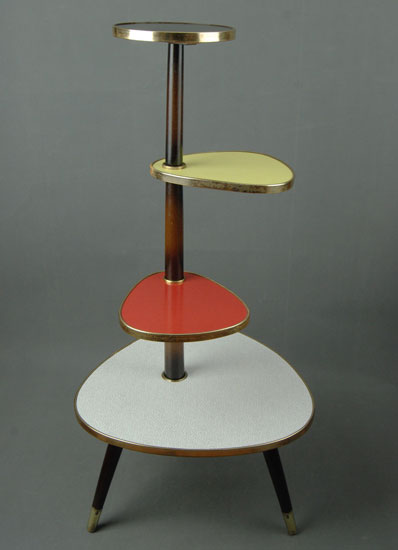 Colourful 1950s midcentury plant stand on eBay