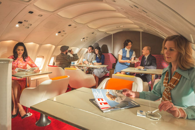 The Pan Am Experience - high-end retro dining on a 1970s 747 plane
