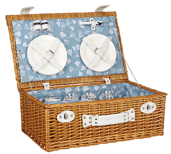 MissPrint Fern retro-style picnic hamper at John Lewis