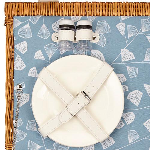 MissPrint Fern retro-style picnic hamper at John Lewis
