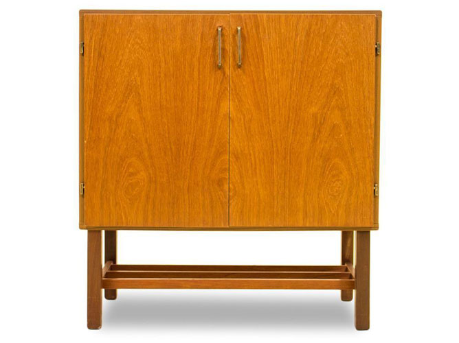 Danish teak and beech media unit on eBay