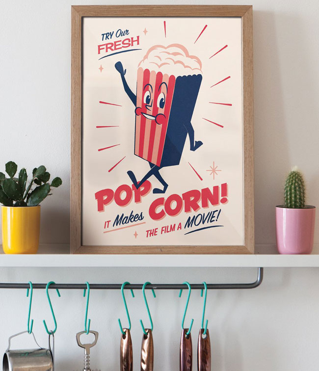 1950s-style Snack Pack prints by Telegramme