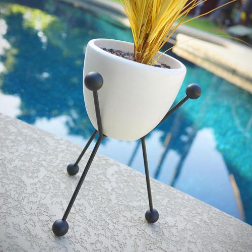 Retro-style Sputnik planter by Atomic Martini