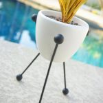 Retro-style Sputnik planter by Atomic Martini