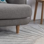 Vaserely large circular wool rug at Made