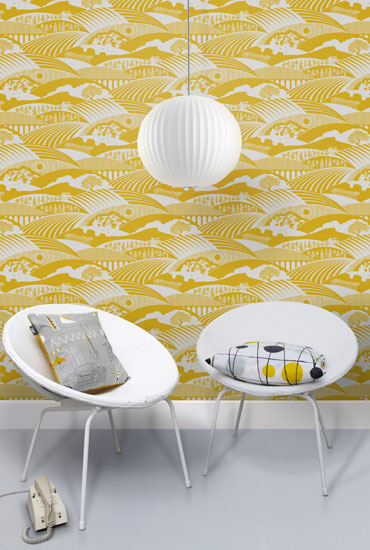 Mini Moderns launches the retro-style Moordale wallpaper