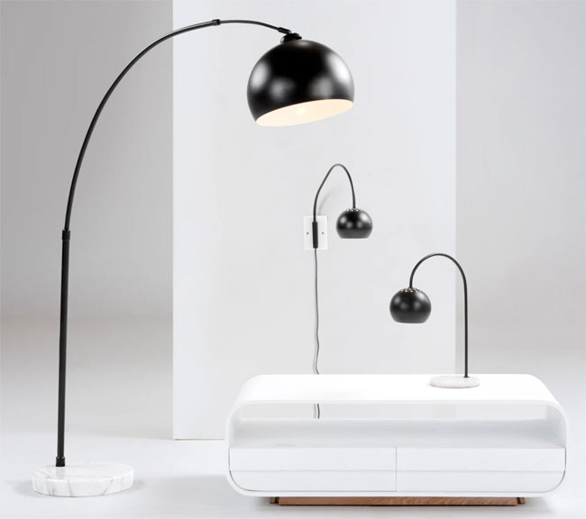 1960s-style Bow floor lamp returns to Made in new finishes