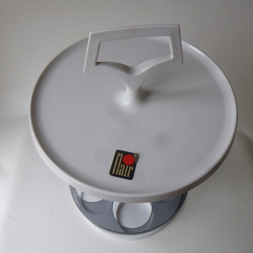 Flair 1970s space age side table and bar on eBay