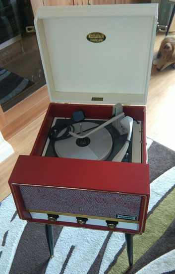 Fully refurbished Dansette Conquest Auto record player on eBay