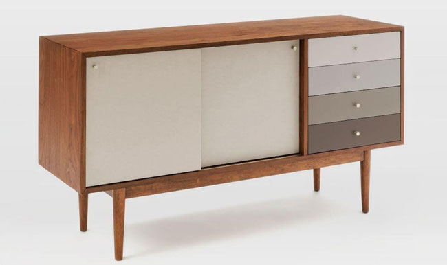 Retro-style Fishs Eddy Sideboard at West Elm