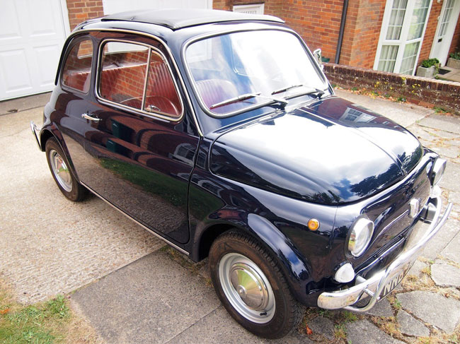 Professionally restored 1969 Fiat 500L on eBay