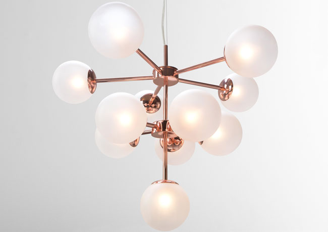 Retro Globe lighting range in copper at Made