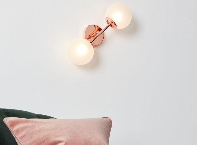 Retro Globe lighting range in copper at Made