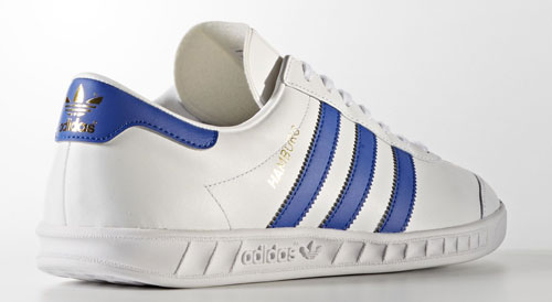 Adidas Hamburg trainers reissued in white leather