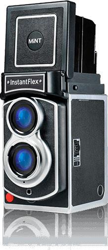 Mint vintage-style InstantFlex TL70 camera