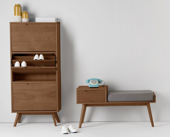 1960s-style Jenson retro storage bench at Made