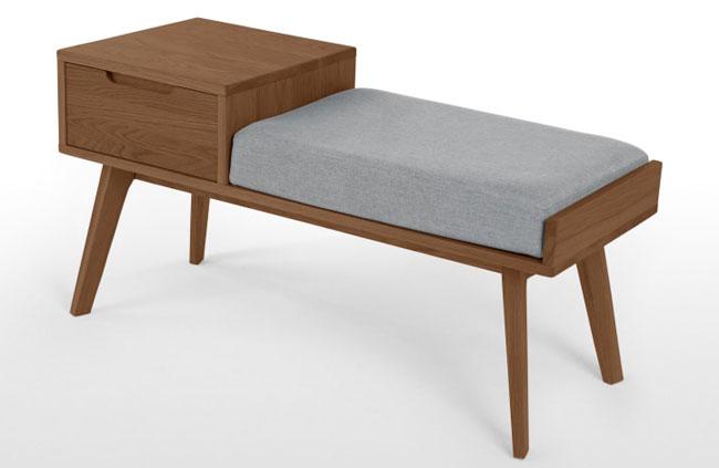 1960s-style Jenson retro storage bench at Made