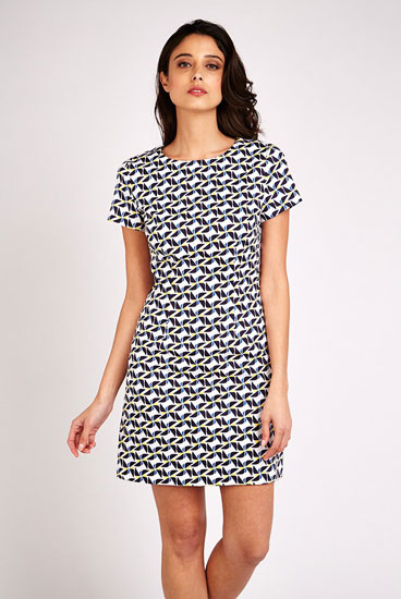 1960s-style Louche Rynie windmill print shift dress