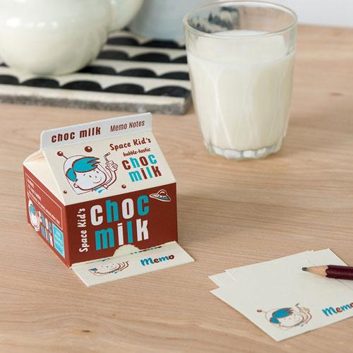 Vintage-style milk carton memo pads